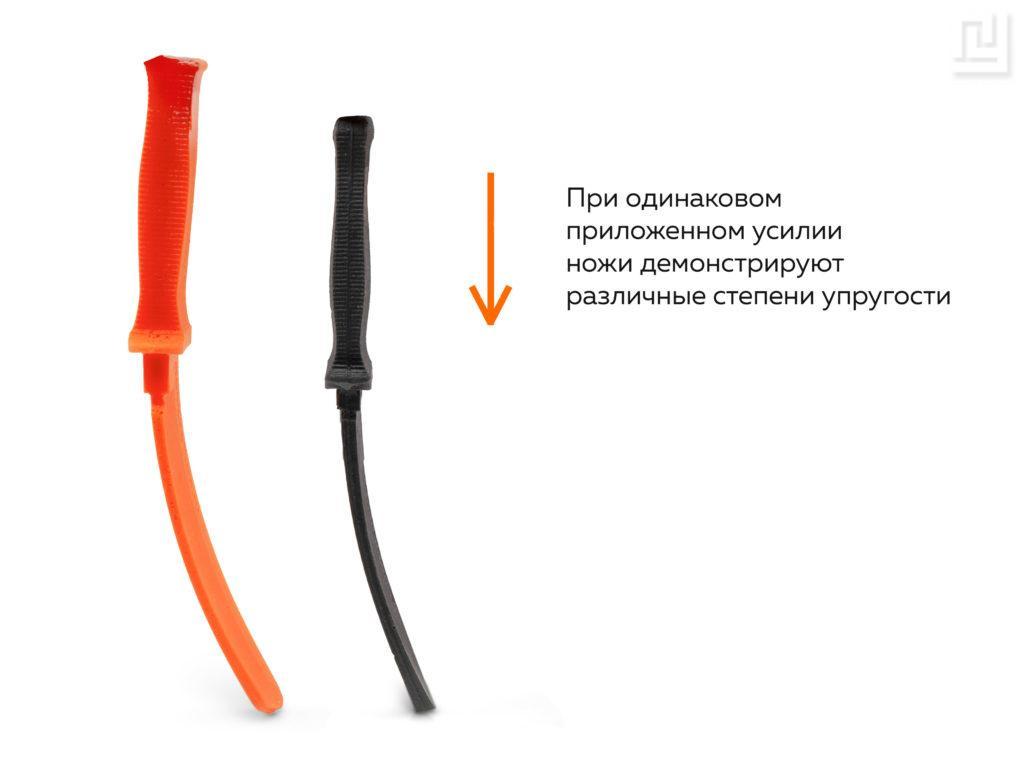 Можно подобрать полиуретановый нож различной степени упругости