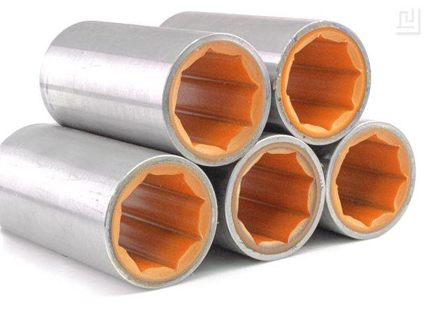 Brass-polymer stern tube bushings